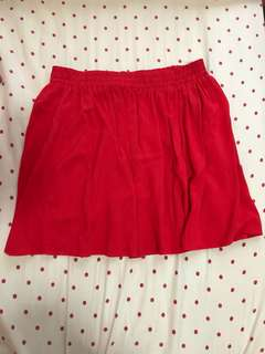 F21 Red skirt