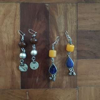 Vintage Antique Dangling Earring Bundle Set from South Africa