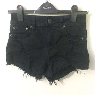 American Eagle Black High Waisted Black Shorts