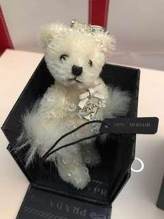 Prada teddy bear bag charm