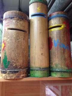 竹筒錢甖三個那些年舊物