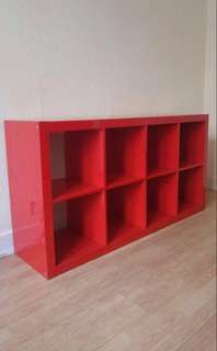 Free delivery Ikea Kallax high gloss red