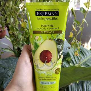 FREEMAN MASK (Avocado & Oatmeal Purifying Clay Mask)
