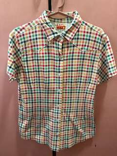Colorful Checkered Short Sleeves Polo