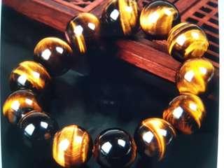 Fengshui-天然黄虎眼手链
