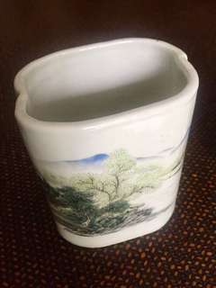Vintage Porcelain Brush Holder