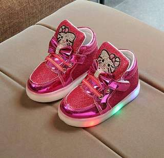 Glittery Hello Kitty LED Shoes (2y to 7y)