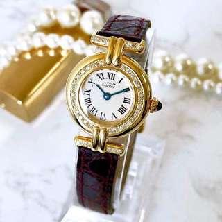 18K金鑲磚卡地亞手錶