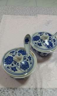 Porcelain cup with spoon