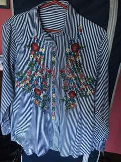 L/s embroidered top free size
