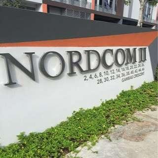 Mins Walk to Sembaang Mrt- Vaious Sizes-New Bldg-Nordcom 2