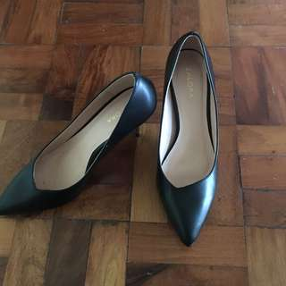 Zalora Black Metal Stiletto Heels / Shoes