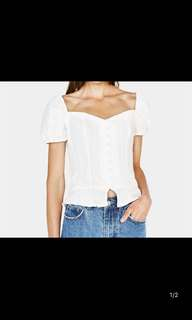 🚚 Europe and the United States women's 18 new Slim was thin square collar short-sleeved front button shirt