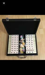 {Collectibles Item - Mahjong Set} Almost New Authentic MARTELL Brand COGNAC Gorgeous & Very Good Quality Gold/Yellow Sparkling Specaled Colour Mahjong Set Come With Metallic Casino Chips & Casing - Rare Set