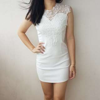 Dress White Lacey