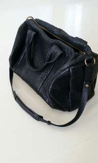 Alexander Wang rocco in black pebble lamb bag