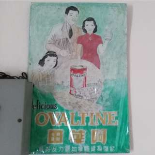 Vintage Ovaltine Tin Sign