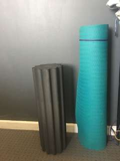 Yoga Mat and Foam Roller