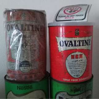 Vintage Tin Ovaltine Big 48oz