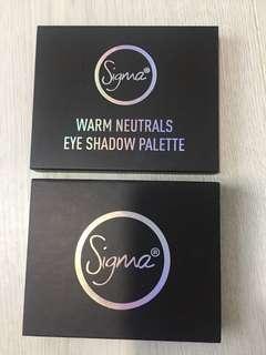Sigma warm neutral eyeshadow palette