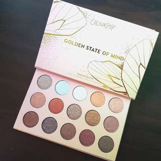 ORIGINAL Colour Pop Golden State of Mind 15-Pan Shadow Palette.