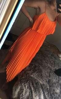 Orange closet crimp dress brand new