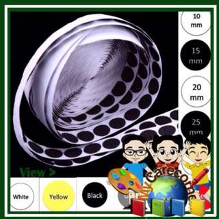 S.Kin Coins Dots colorful Self Adhesive circle Hooks and Loops velcro art craft tape DIY car wardrobe