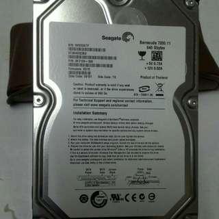 Seagate 640g 硬碟 含運費只賣560元