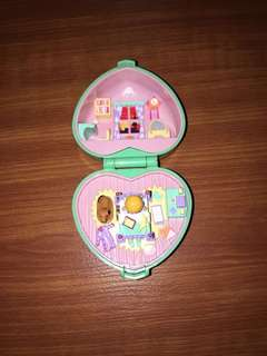 Vintage polly pocket midge's bedtime ring case from bluebird 1991 - 100% complete