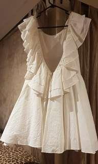white open backed dress size 12