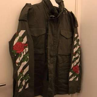 Flash sales ⚡️Off-white embroidered military Jacket