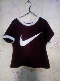 Imitation Maroon Croptop
