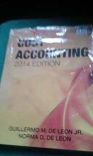 Cost Accounting 2014 Edition by De Leon