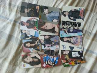 全部20張明星卡咭 Yes card, Charlene, Linda, Mag, Rainie, Yoga, Fahrenheit Chun, Hotcha, Stephy, AK,