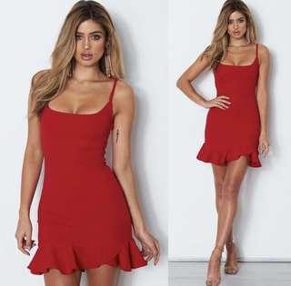 Luella Red Mini Dress