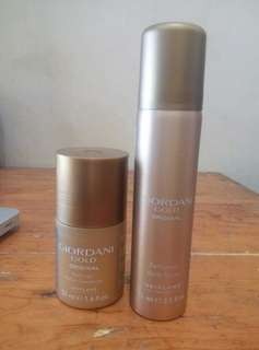 Parfum body spray dan deodoran Giordani Gold