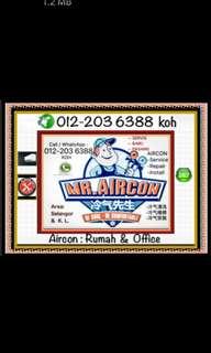 Service Repair Install Aircond / Servis Baiki Pasang Aircon / Air-conditioner Sales