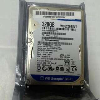 WD  Scorpio Blue 320GB  2.5隨身碟含運費只賣340元