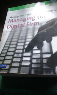 Management Information System Managing The Digitak Firm 2919 Ed by Laudon/Laudon
