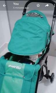 Everflo stroller murah