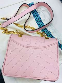 Tory Burch 少女pink Alexa crossbody入門之選