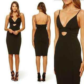 Black Amaro Midi Dress