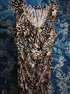 Dress sexy motif macan