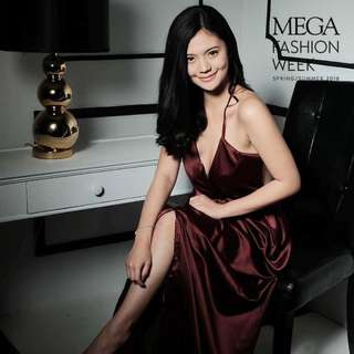 Maroon Style Staple dress (Same as Verniece Enciso & Erich Gonzales)
