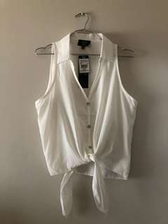White Top With Collar