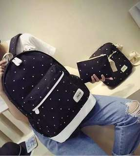 Korean 3in1 Polka Bag - COD