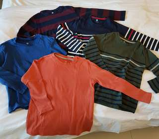 Uniqlo Boys' Long-sleeved Tshirts (sold separately)