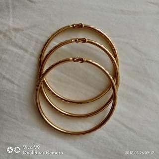 Gold Bangle 916 6.2 gram x 3