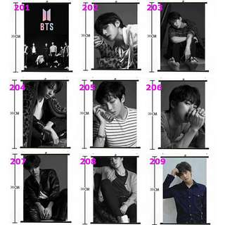 BTS Wall Scroll Poster HD