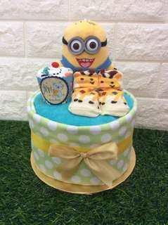 Full moon diaper cake